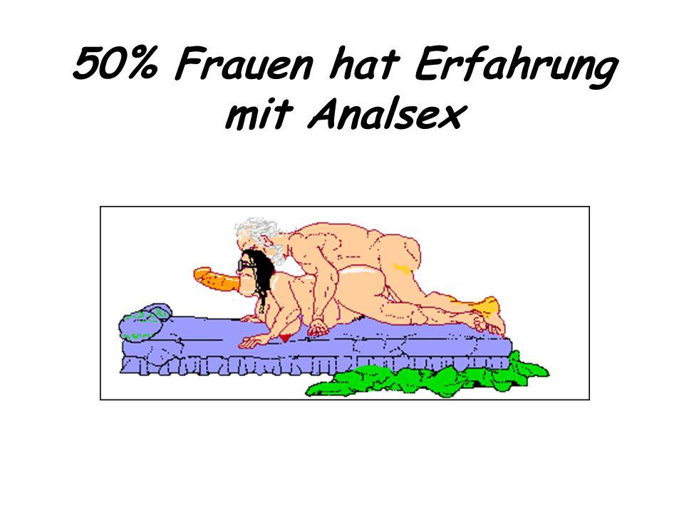 50% Frauen hat Erfahrung mit Analsex
