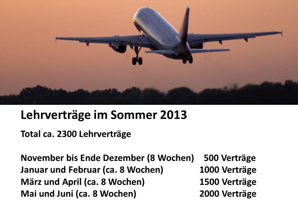 Lehrverträge im Sommer 2013 Total ca.