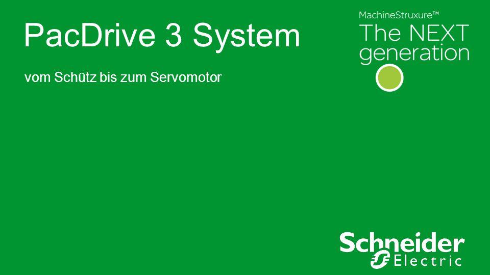 Schneider Electric 2 - Machine Solutions – PacDrive3 System ●Bulleted text level one ●Level two ●Level three Our values Alles aus einer Hand Vom Schütz bis zum Servomotor alles optimal aufeinander abgestimmt
