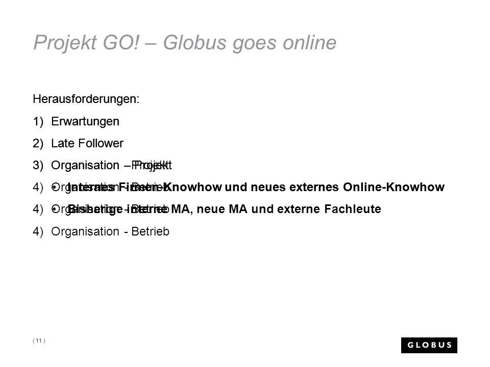 Herausforderungen: 1)Erwartungen 2)Late Follower 3)Organisation – Projekt Internes Firmen-Knowhow und neues externes Online-Knowhow Bisherige interne