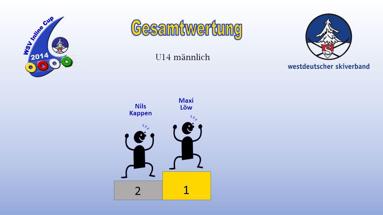 1 3 Celina Schmidt Elena Menke U14 weiblich 1 Anna-Sophie Lehmann