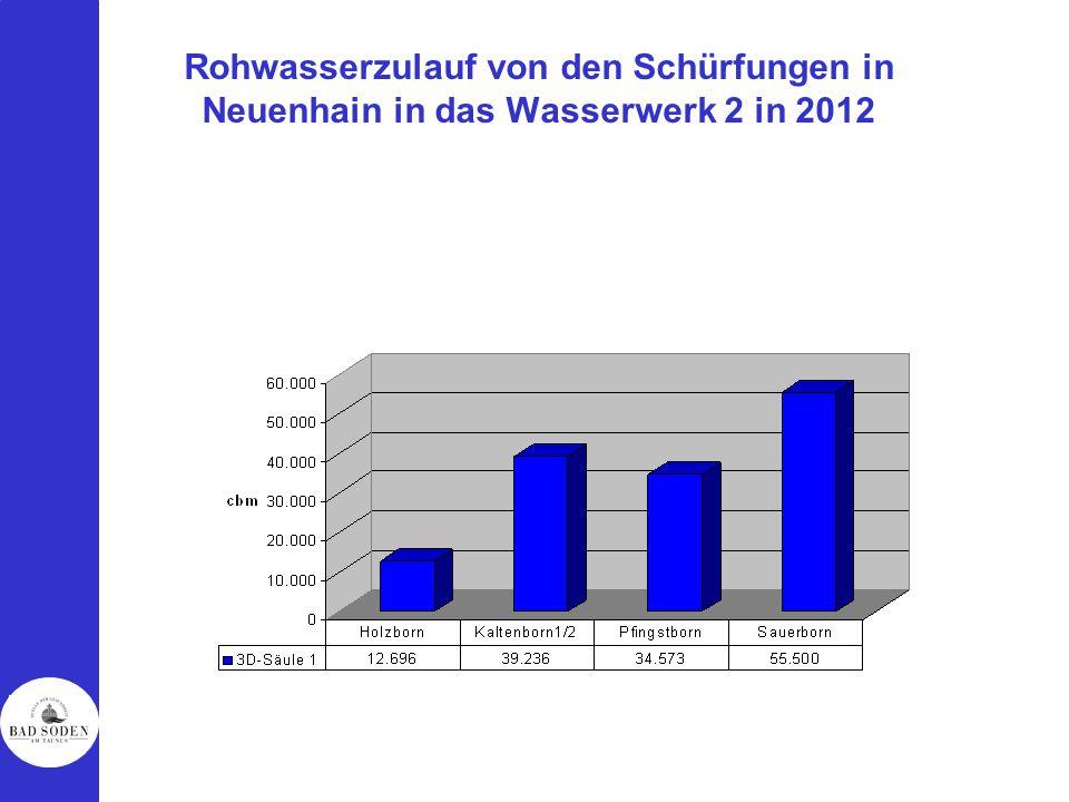 Rohwasserzulauf von den Schürfungen in Neuenhain in das Wasserwerk 2 in 2012