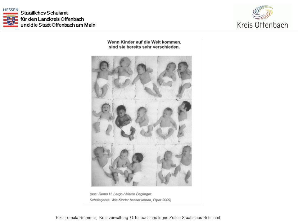 Staatliches Schulamt für den Landkreis Offenbach und die Stadt Offenbach am Main Elke Tomala-Brümmer, Kreisverwaltung Offenbach und Ingrid Zoller, Staatliches Schulamt 10 Heterogene Lerngruppen Wenn man mit Schülerinnen und Schülern arbeitet, die unterschiedliche Lernvoraussetzungen haben, sind heterogene Gruppenbildung und differenziertes Vorgehen sowohl notwendig als auch erfolgreich.