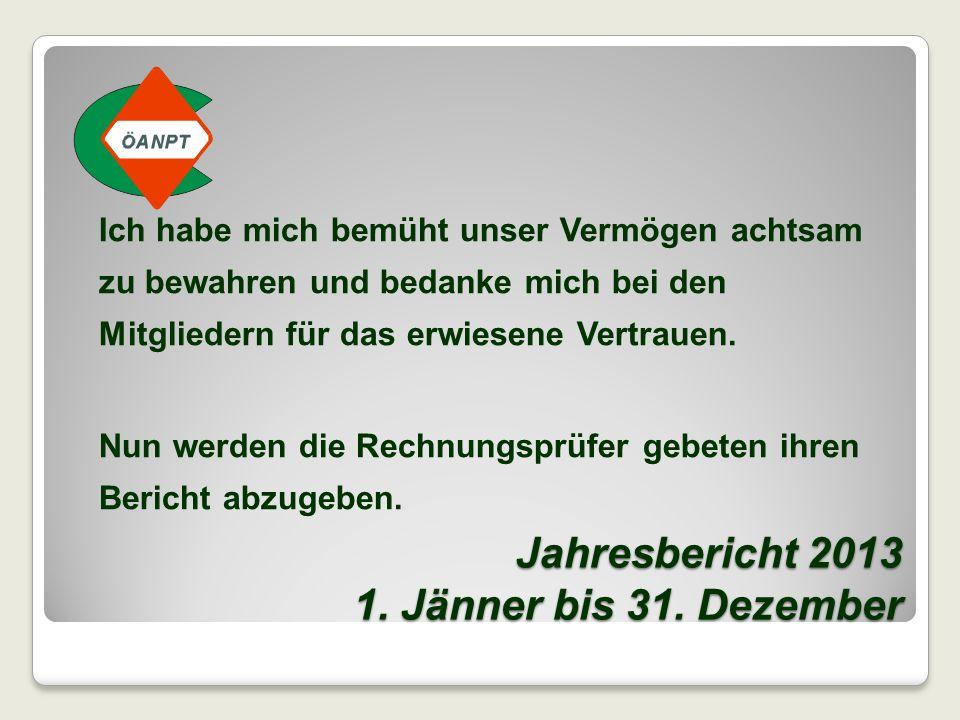 GENERALVERSAMMLUNG 2014 TO 03 Bericht der Rechnungsprüfer Werner Mühlbacher, Wolfgang Thallner TO 04 Entlastung des Schatzmeisters