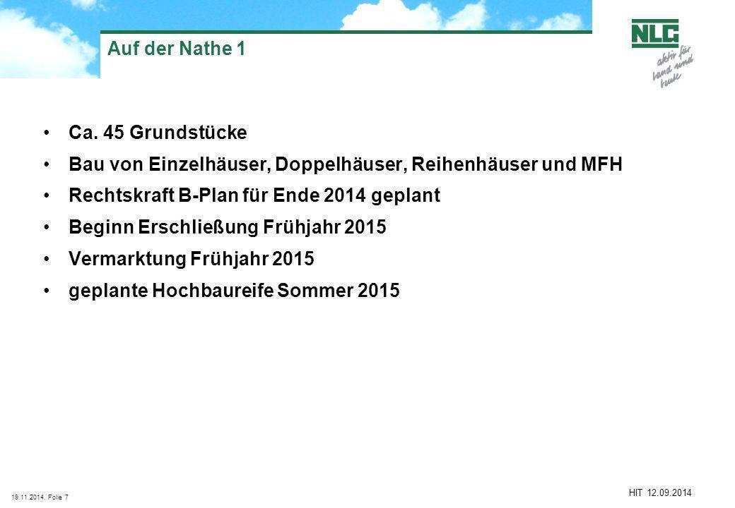 19.11.2014, Folie7 HIT 12.09.2014 Auf der Nathe 1 Ca.