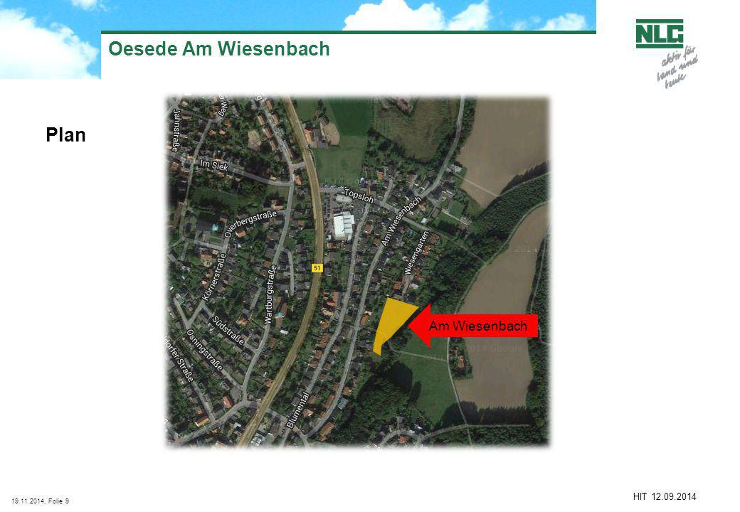 19.11.2014, Folie9 Oesede Am Wiesenbach Plan HIT 12.09.2014 Am Wiesenbach