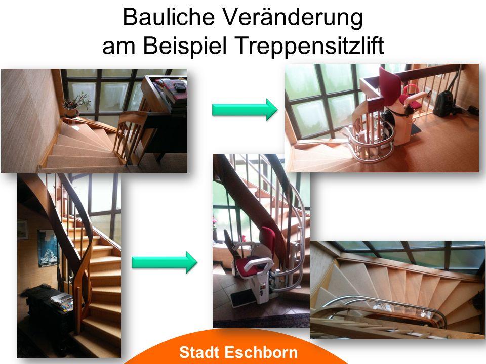 Bauliche Veränderung am Beispiel Treppensitzlift Stadt Eschborn
