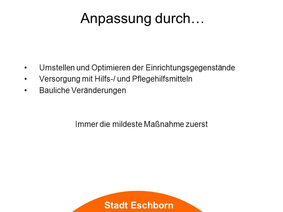 Stadt Eschborn Smart Home Einrichtung des AAL: Ambient Assissted Living, nach der Smart Home Initiative Deutschland e.V.
