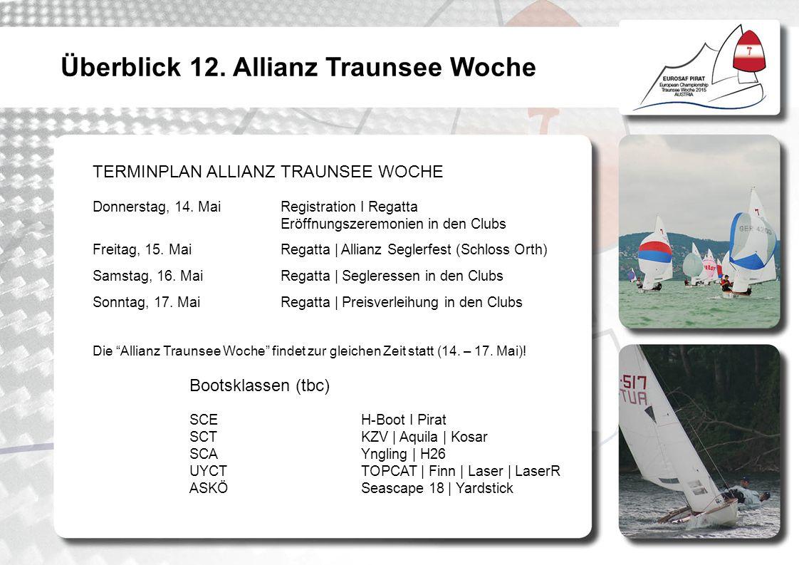 TERMINPLAN ALLIANZ TRAUNSEE WOCHE Donnerstag, 14.