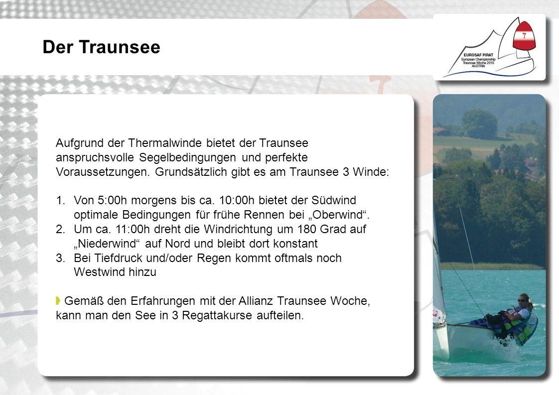 Aufgrund der Thermalwinde bietet der Traunsee anspruchsvolle Segelbedingungen und perfekte Voraussetzungen.