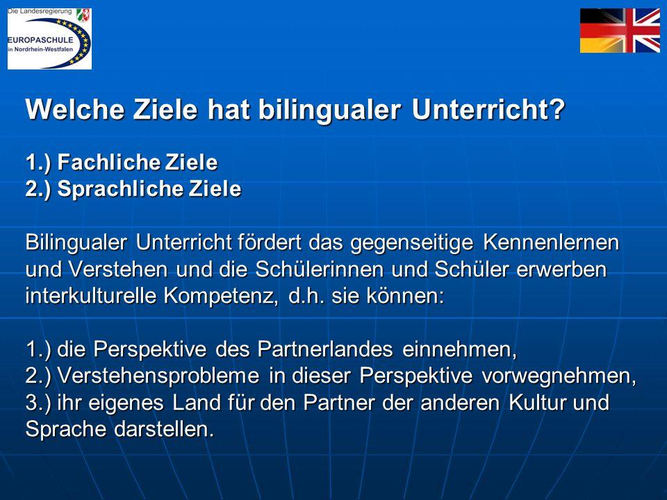 Welche Ziele hat bilingualer Unterricht.