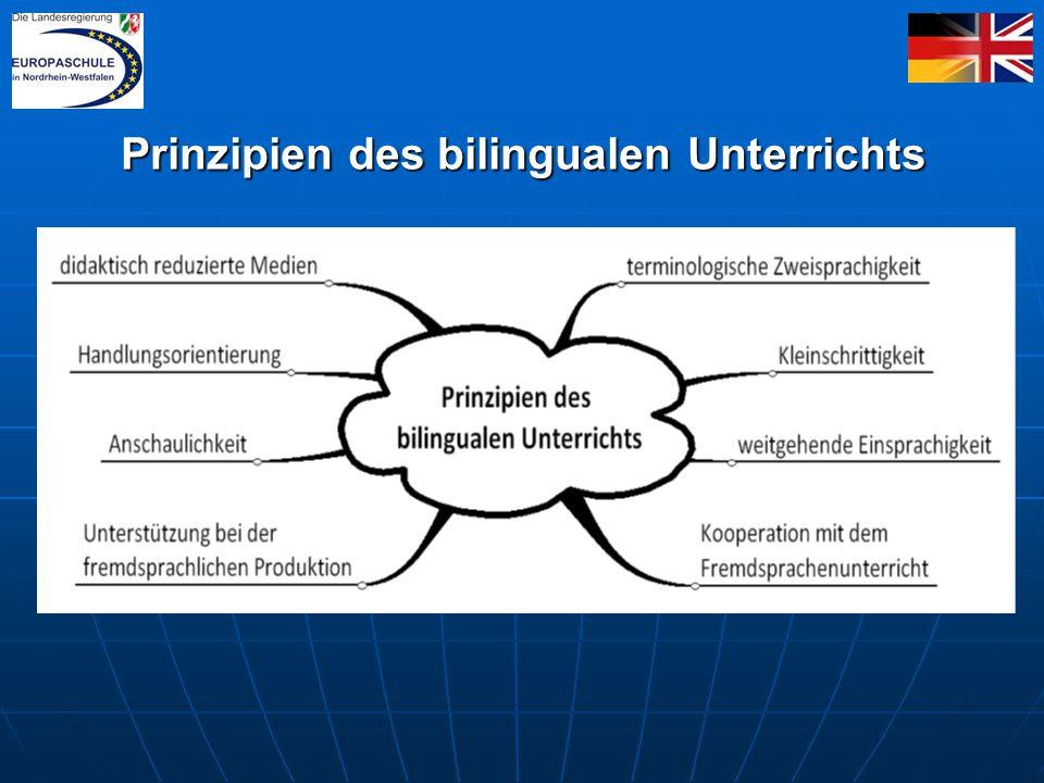 Prinzipien des bilingualen Unterrichts