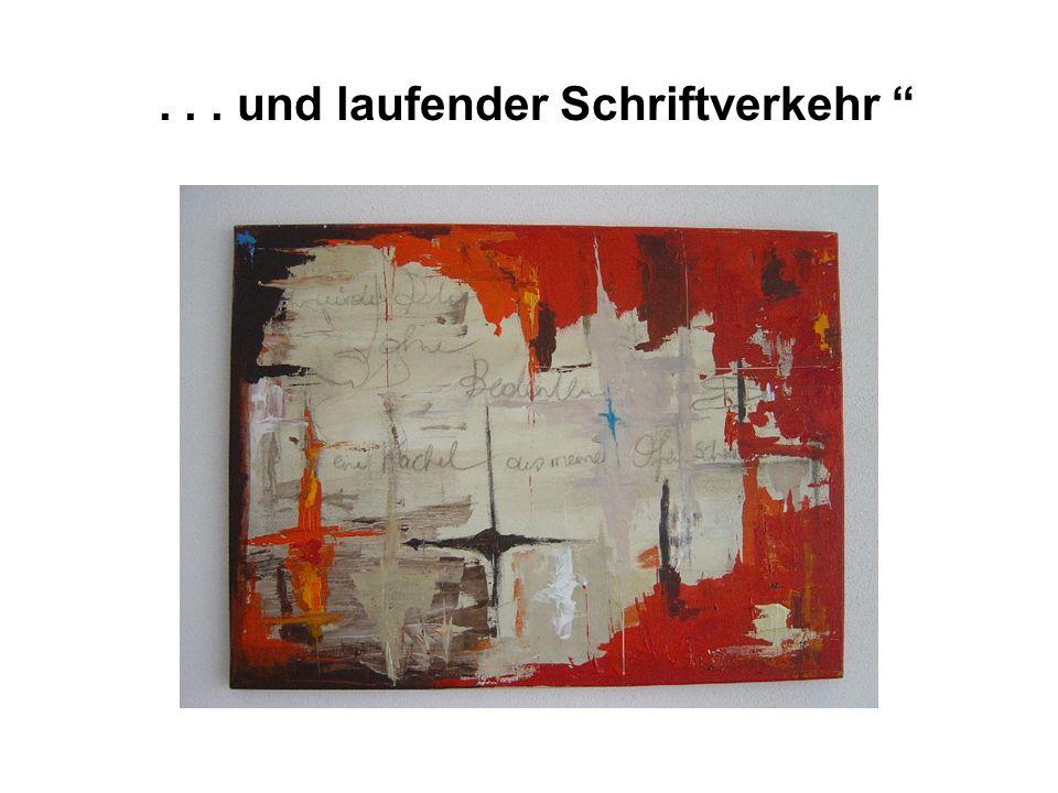 """... und laufender Schriftverkehr """""""