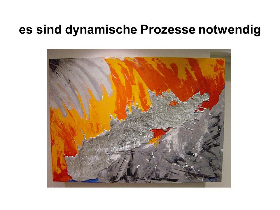 es sind dynamische Prozesse notwendig