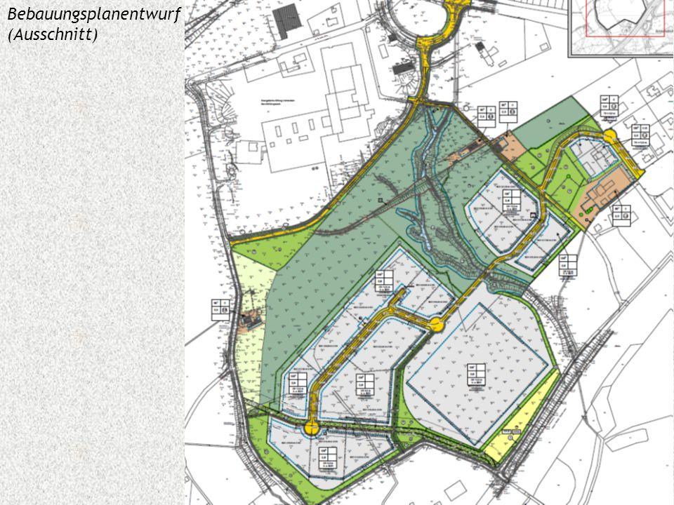 Bebauungsplanentwurf (Ausschnitt)