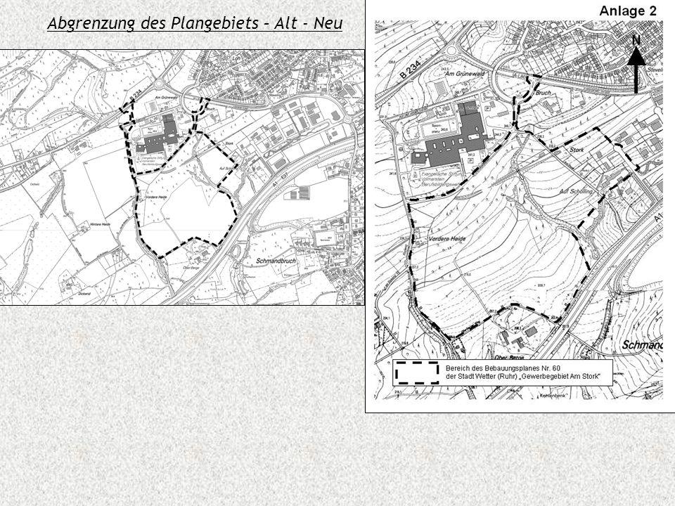 Abgrenzung des Plangebiets – Alt - Neu