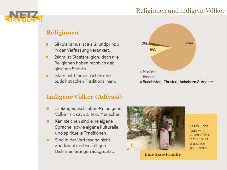 Religionen und indigene Völker Säkularismus ist als Grundprinzip in der Verfassung verankert.