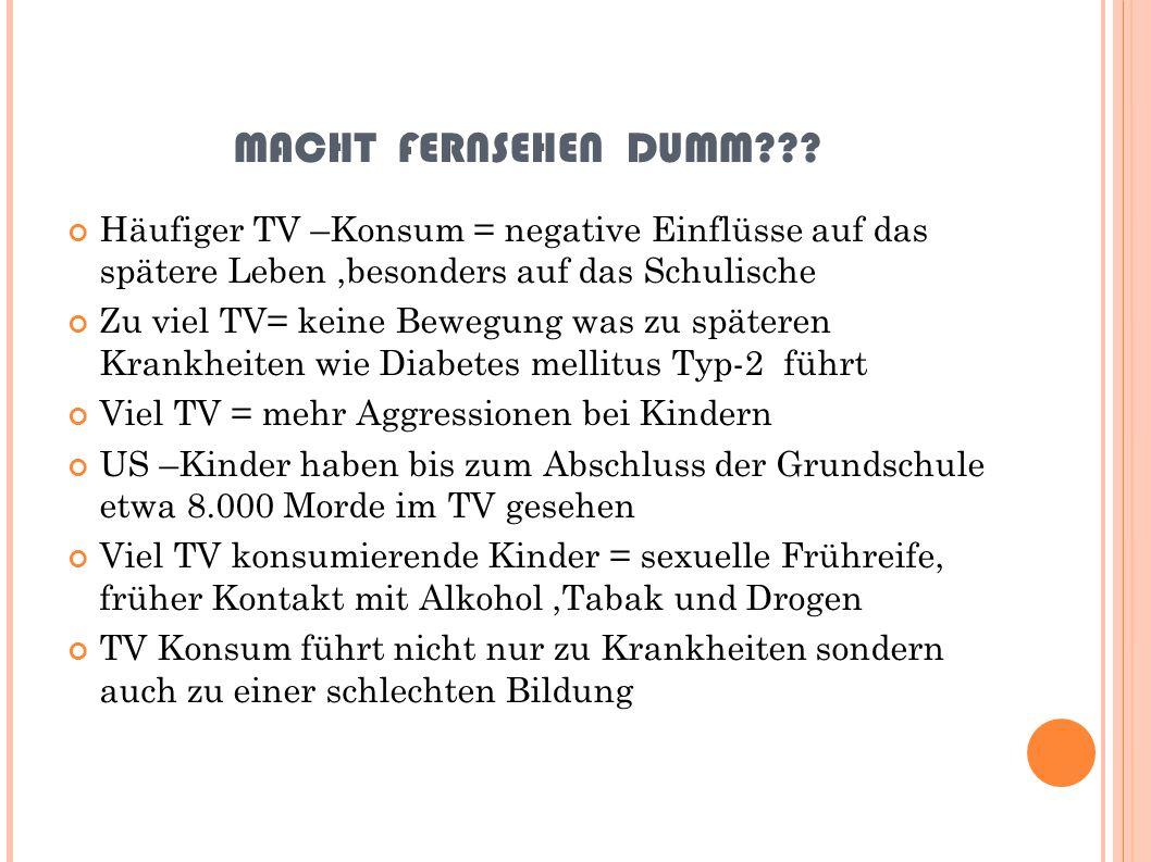 MACHT FERNSEHEN DUMM??.