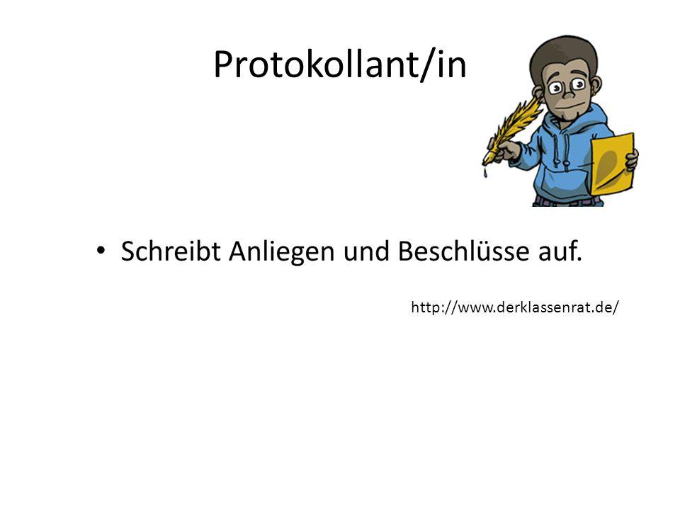 Protokollant/in http://www.derklassenrat.de/