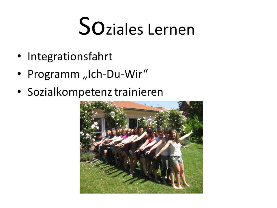 """So ziales Lernen Integrationsfahrt Programm """"Ich-Du-Wir Sozialkompetenz trainieren"""