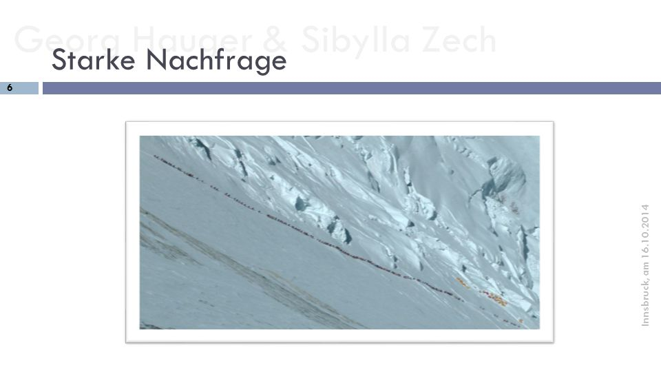 "Georg Hauger & Sibylla Zech 17 Innsbruck, am 16.10.2014 Sind die ""Öffis immer sinnvoll."