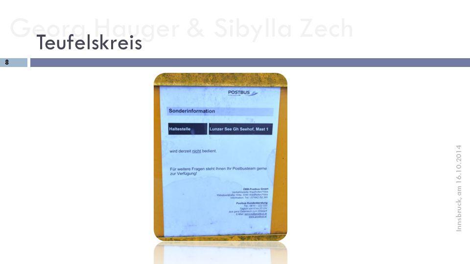 Georg Hauger & Sibylla Zech 9 Innsbruck, am 16.10.2014 Die Lösung  Nachhaltige touristische Verkehrslösungen.