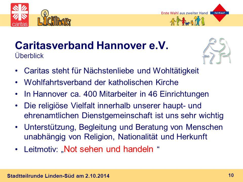 Stadtteilrunde Linden-Süd am 2.10.2014 Caritasverband Hannover e.V.