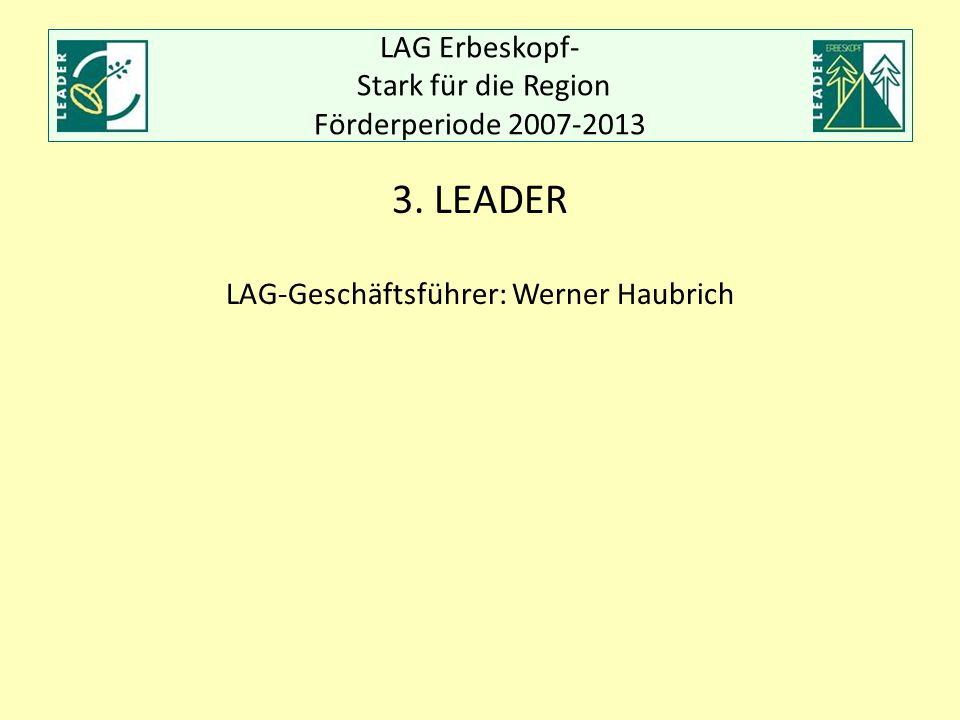 Auftaktveranstaltung LAG Erbeskopf am 01.