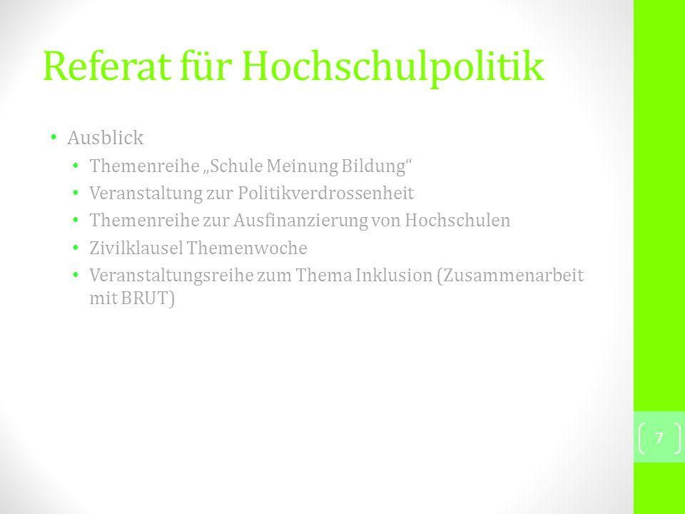 Referat für Ökologie Vergangene Veranstaltungen Abschluss des Kleingartenankaufs Regelmäßige Gartenarbeit 22.05.