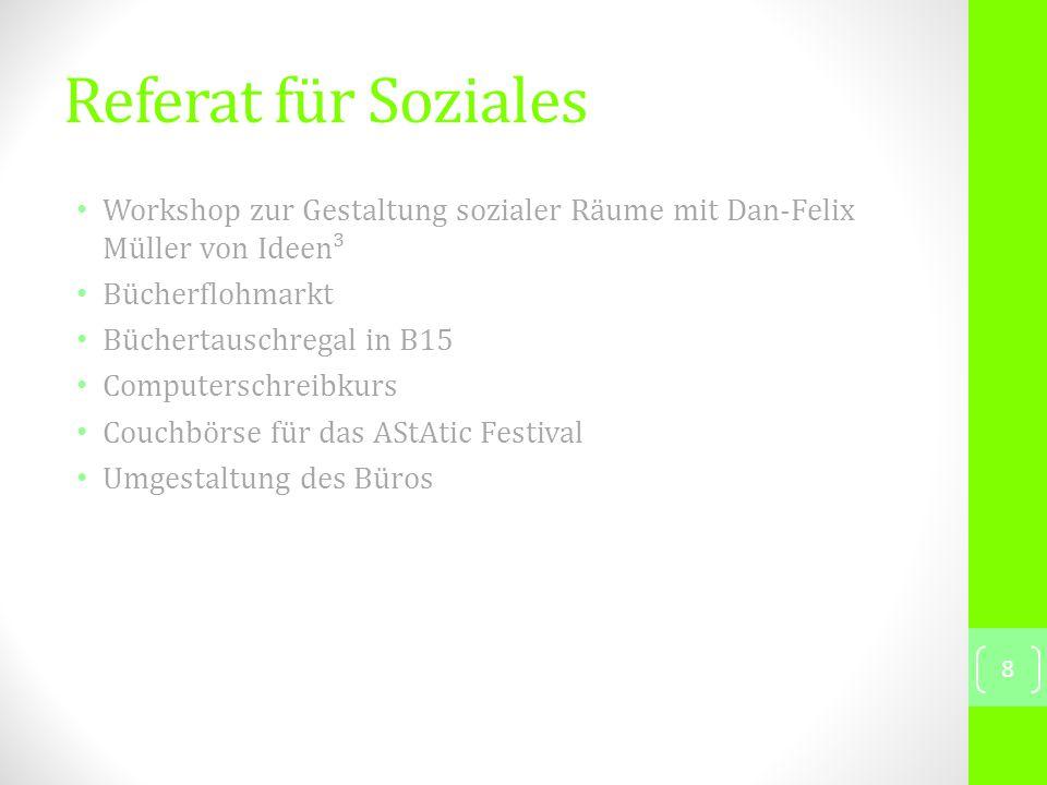 Referat für Ökologie Kommende Veranstaltungen 06.07.