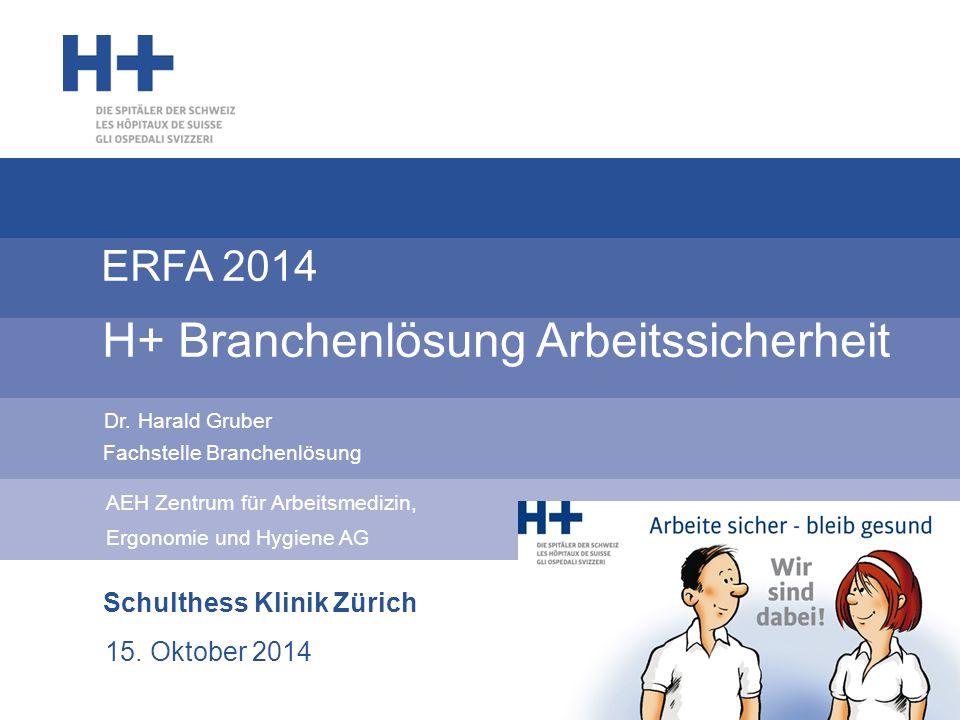 Stand Branchenlösung H+ 2 Aktivitäten, Controlling, Audit  Mitgliedsbetriebe: 220 am 30.09.2014 ca.