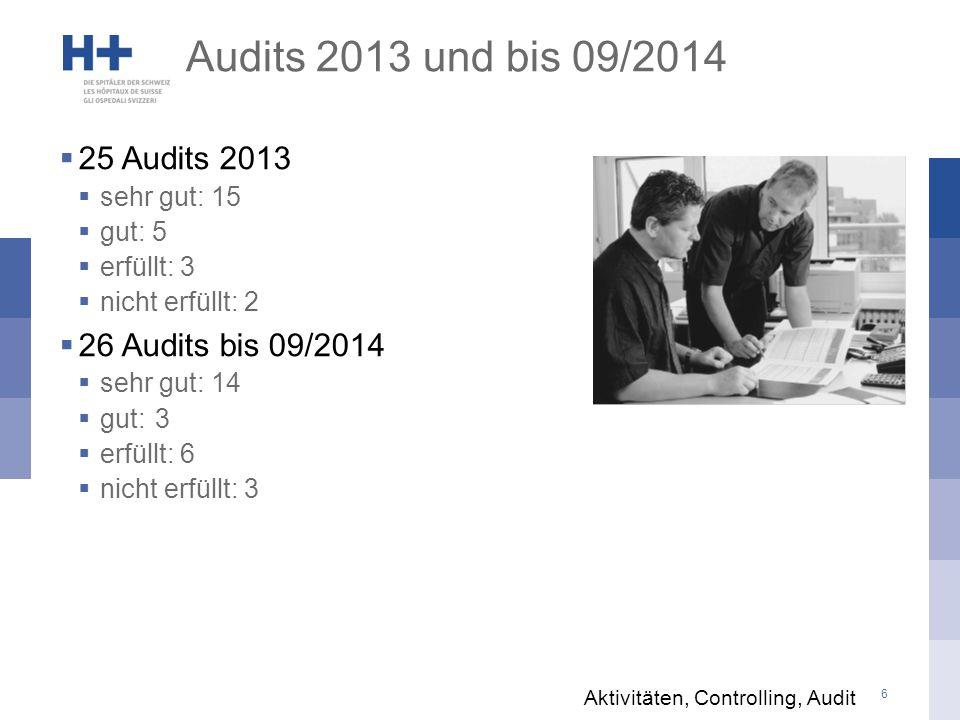 7 Massnahmen aus Audits Aktivitäten, Controlling, Audit