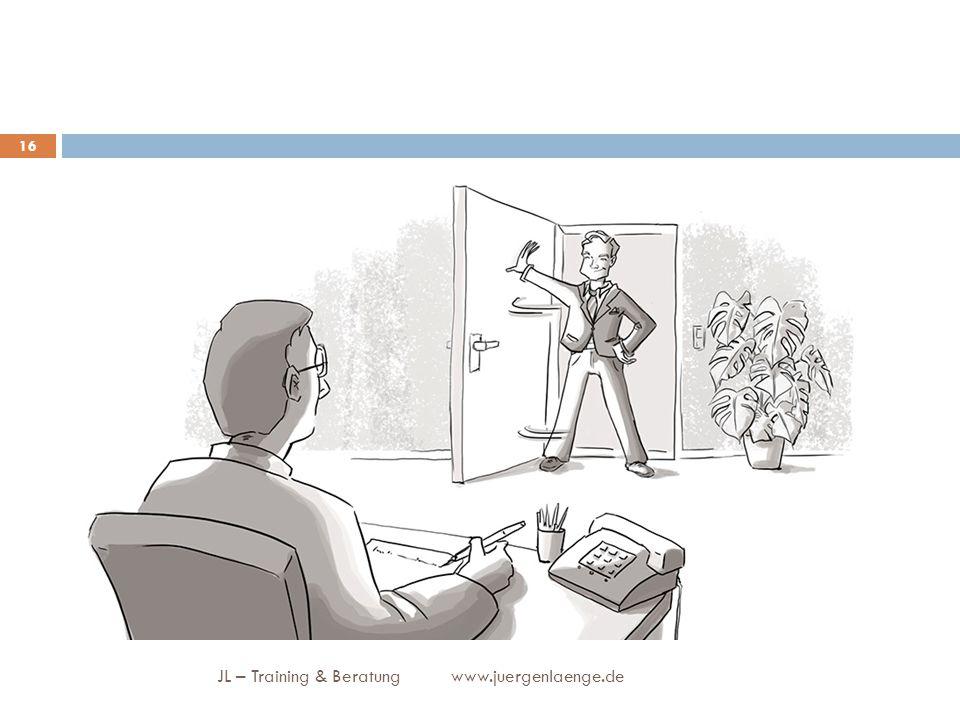 JL – Training & Beratung www.juergenlaenge.de 16