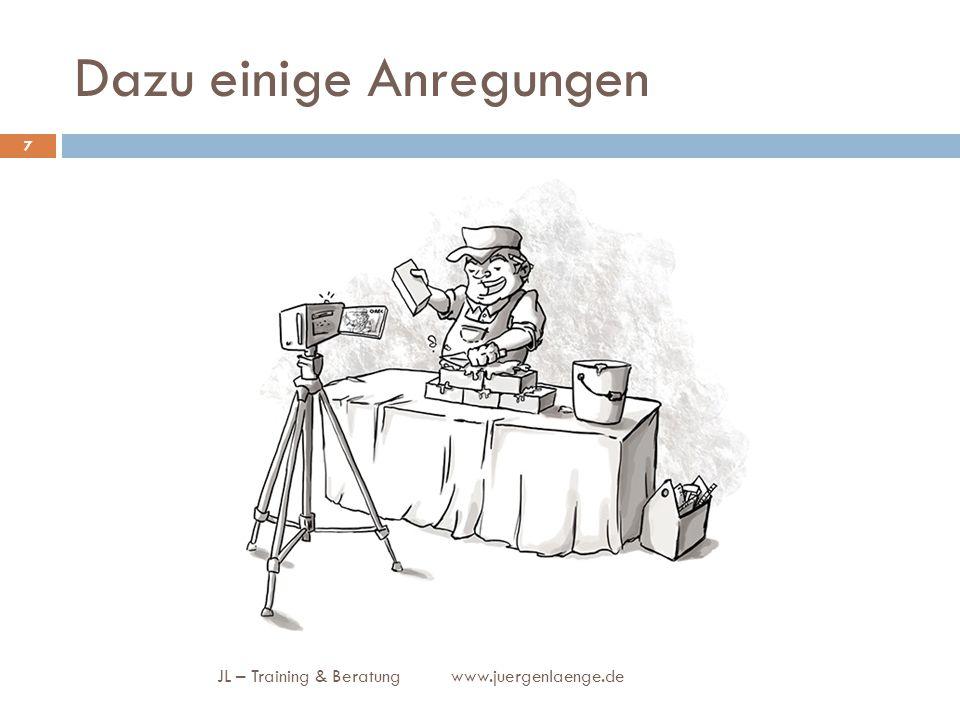 Dazu einige Anregungen JL – Training & Beratung www.juergenlaenge.de 7