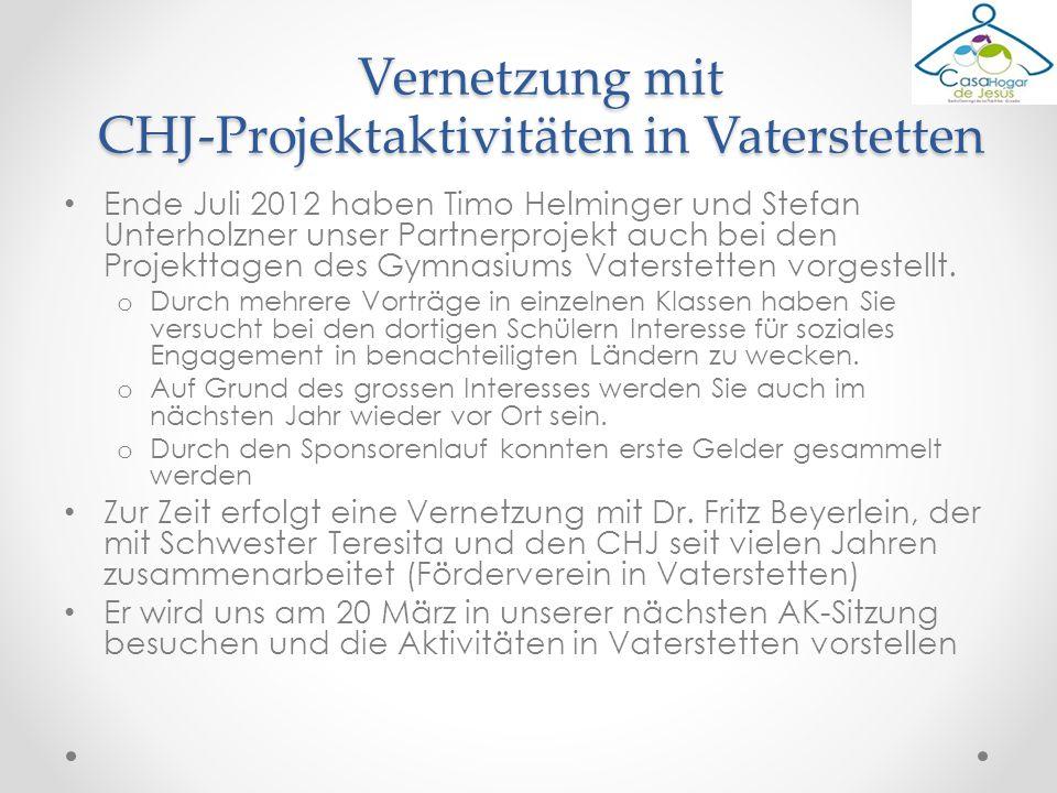 Ende Juli 2012 haben Timo Helminger und Stefan Unterholzner unser Partnerprojekt auch bei den Projekttagen des Gymnasiums Vaterstetten vorgestellt. o