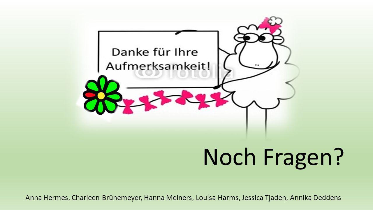 Noch Fragen? Anna Hermes, Charleen Brünemeyer, Hanna Meiners, Louisa Harms, Jessica Tjaden, Annika Deddens