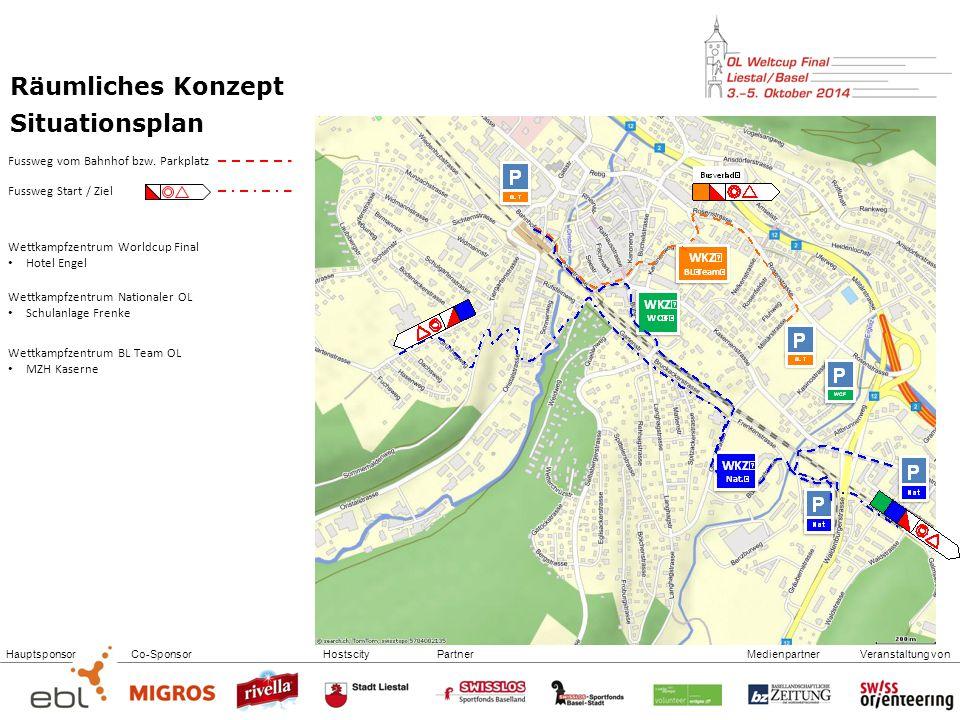 HauptsponsorCo-SponsorHostscityPartnerVeranstaltung vonMedienpartner Räumliches Konzept Situationsplan Fussweg vom Bahnhof bzw.