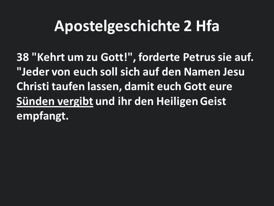 Apostelgeschichte 2 Hfa 38