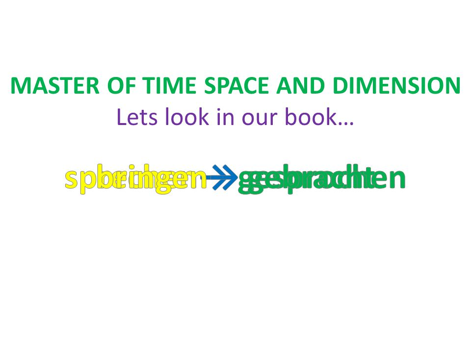 …only a MASTER OF TIME SPACE AND DIMENSION Lets look in our book…