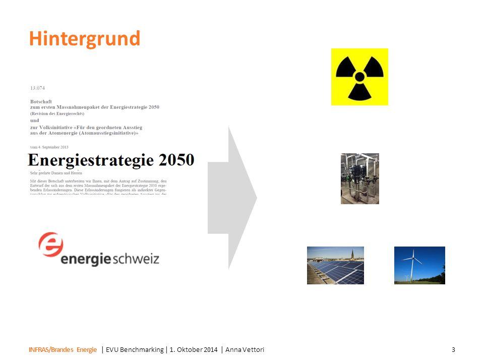 INFRAS/Brandes Energie Hintergrund | EVU Benchmarking | 1. Oktober 2014 | Anna Vettori3