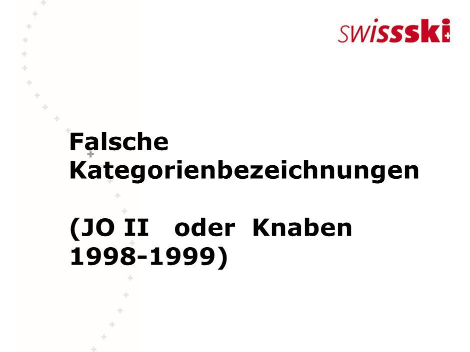 Falsche Kategorienbezeichnungen (JO II oder Knaben 1998-1999)