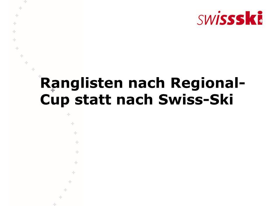 Ranglisten nach Regional- Cup statt nach Swiss-Ski