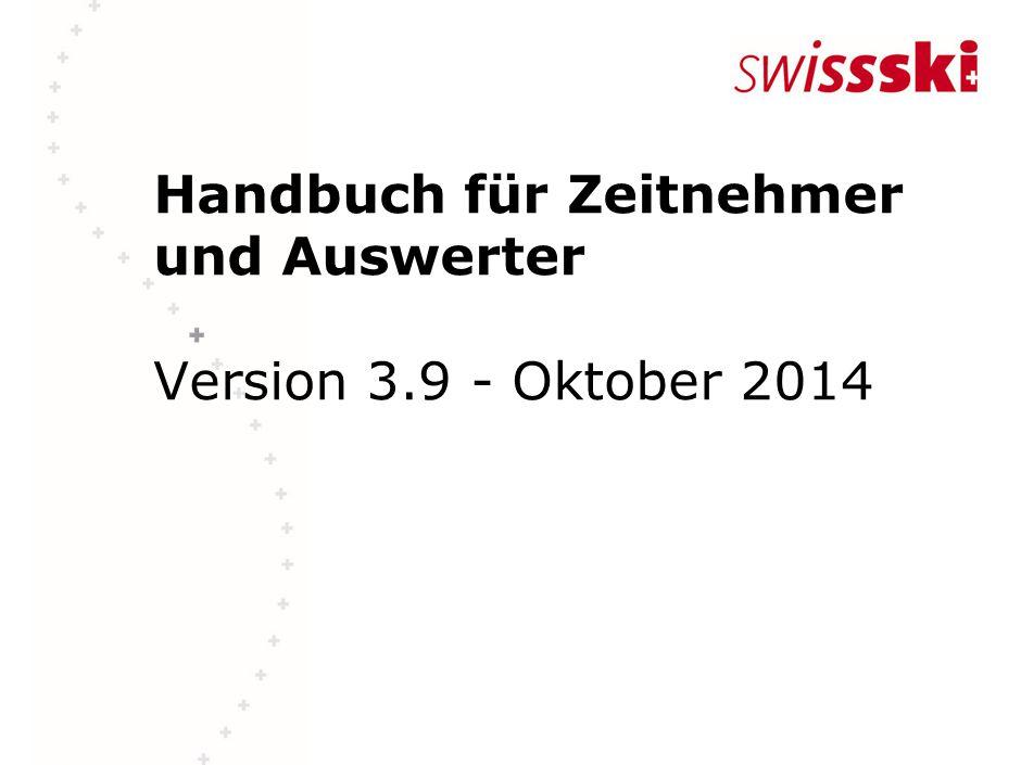 Handbuch für Zeitnehmer und Auswerter Version 3.9 - Oktober 2014