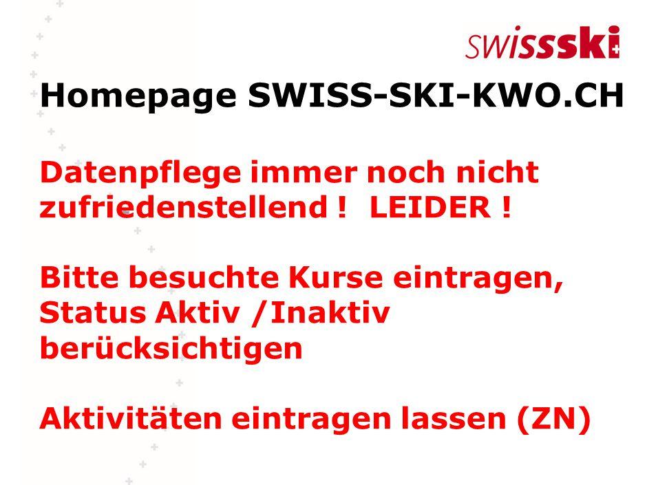 Homepage SWISS-SKI-KWO.CH Datenpflege immer noch nicht zufriedenstellend .