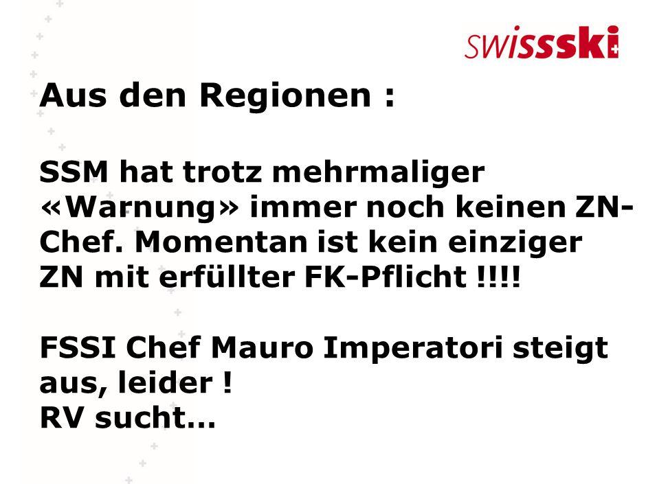 Aus den Regionen : SSM hat trotz mehrmaliger «Warnung» immer noch keinen ZN- Chef.