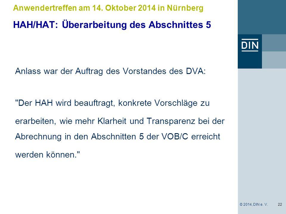 Anlass war der Auftrag des Vorstandes des DVA: