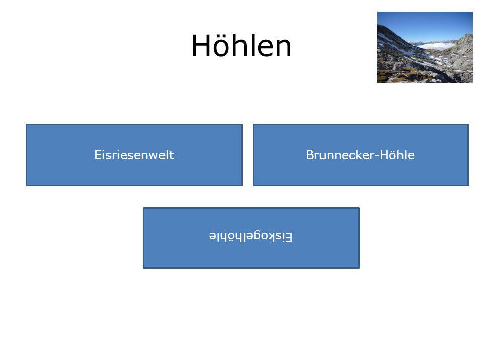 Höhlen EisriesenweltBrunnecker-Höhle Eiskogelhöhle