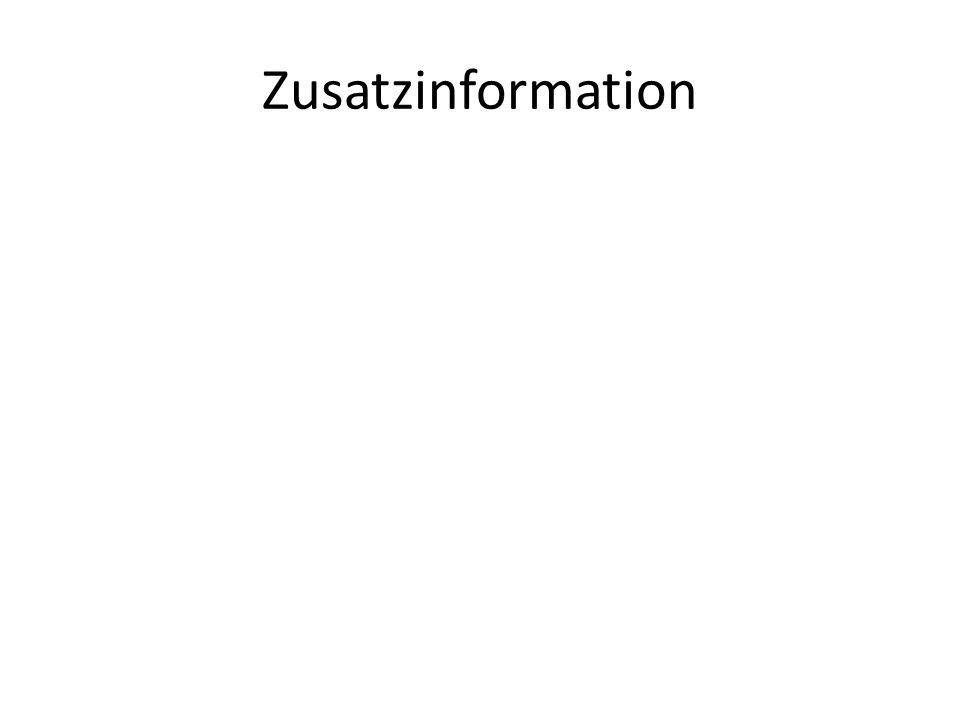 Zusatzinformation