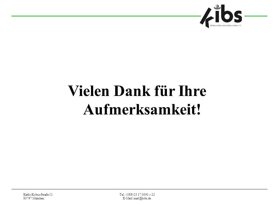 Kathi-Kobus-Straße 11 80797 München Tel.: (089) 23 17 16 91 – 22 E-Mail: mail@kibs.de Vielen Dank für Ihre Aufmerksamkeit!