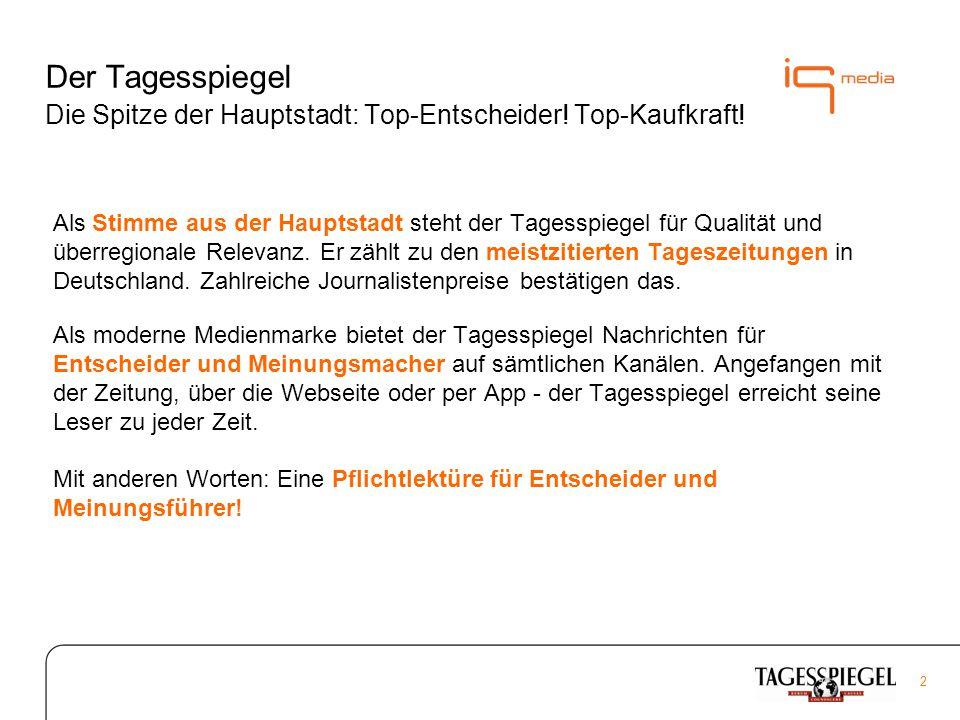 2 Der Tagesspiegel Die Spitze der Hauptstadt: Top-Entscheider.
